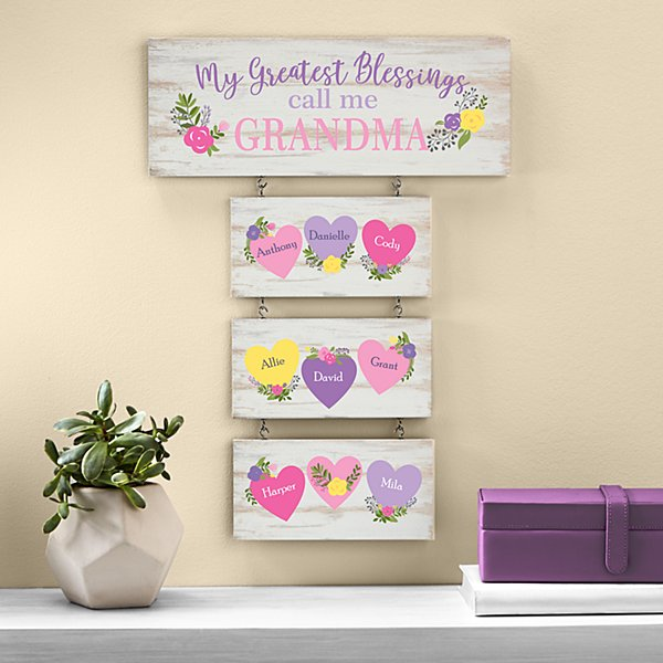 Her Greatest Blessings Hanging Wood Wall Art