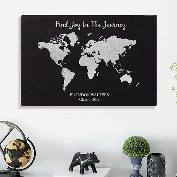 Joy In The Journey Graduation Leather Wall Art
