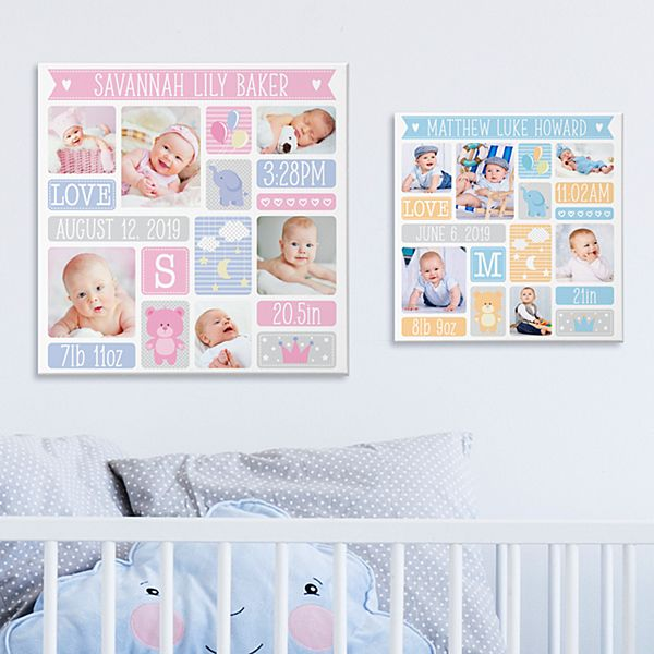 Brand New Baby Photo Canvas