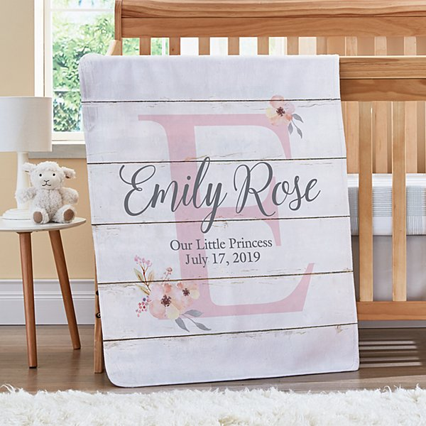 Elegant Baby Name Blanket