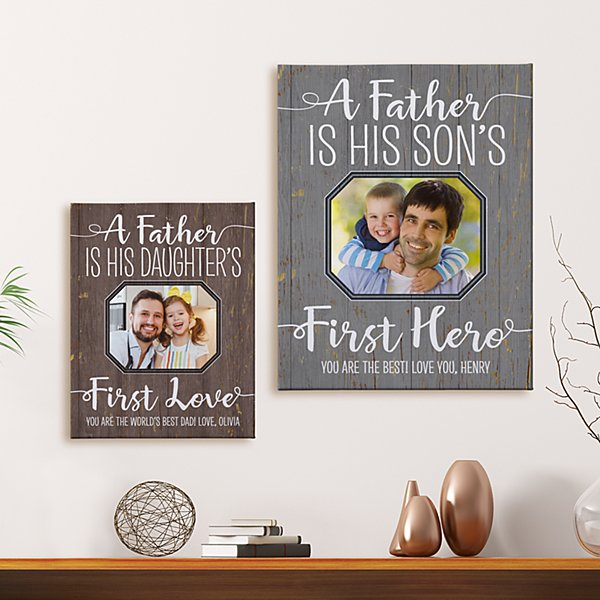 First Memories Photo Canvas