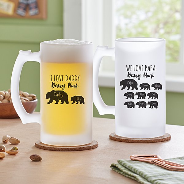 Love You Beary Much Frosted Beer Mug