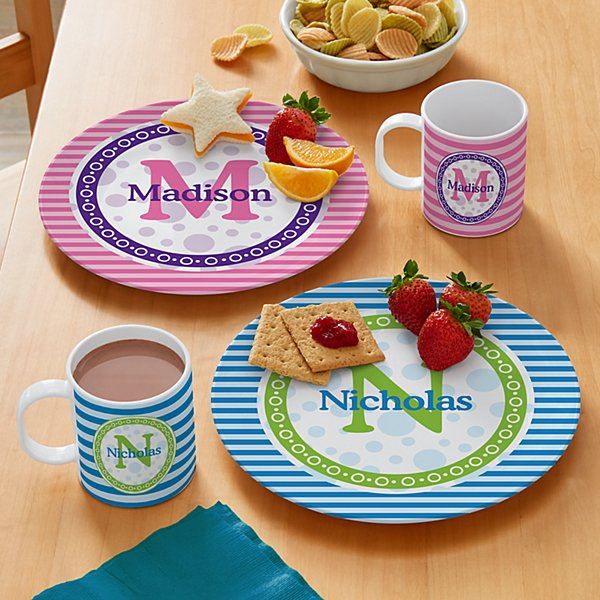 Pattern Initial Personalized Tableware