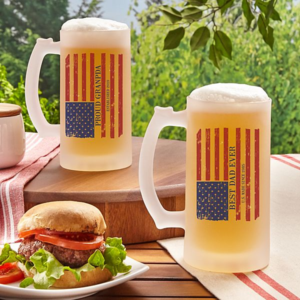 All American Frosted Beer Mug