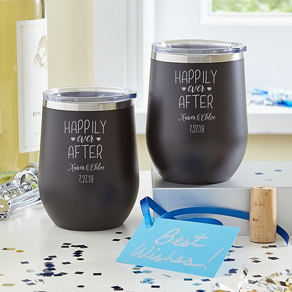 Happily Ever After Wine Tumbler Set