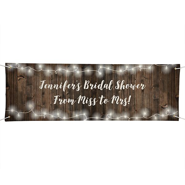 Rustic Wood Banner - 6ft