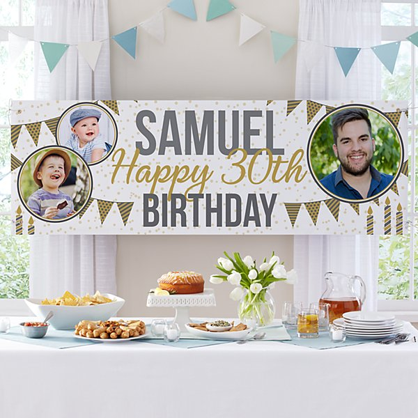 Through the Years Photo Birthday Banner