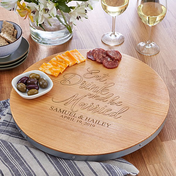 Eat, Drink & Be Married Lazy Susan