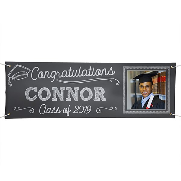 Class Act Graduation Photo Banner - 6 ft