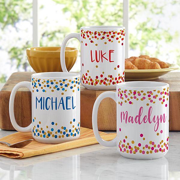 Confetti Name Mug