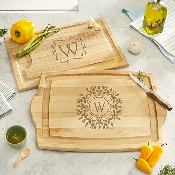 Decorative Monogram Wood Cutting Board