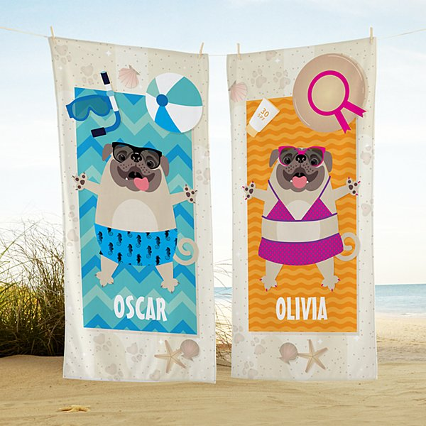 Dog Days Of Summer Beach Towel
