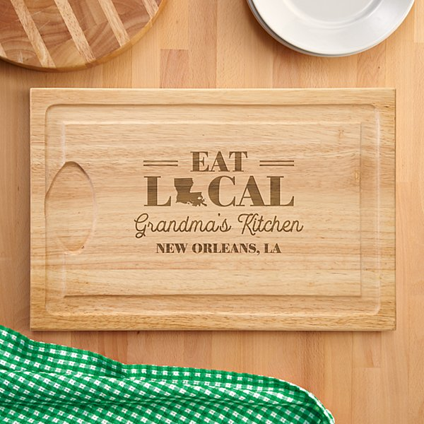 Eat Local Wood Cutting Board