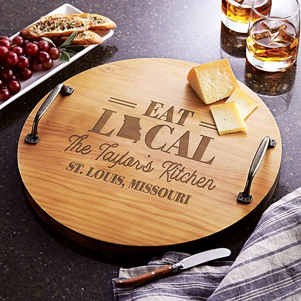 Eat Local Wood Serving Tray