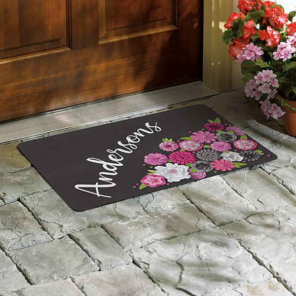 Floral Bouquet Family Doormat