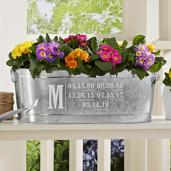 Fun Family History Planter Tub