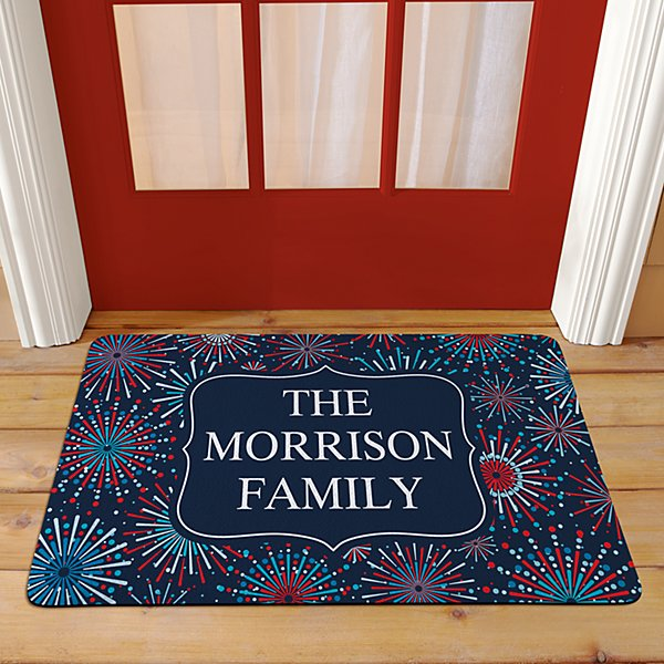 Fun Fireworks Doormat