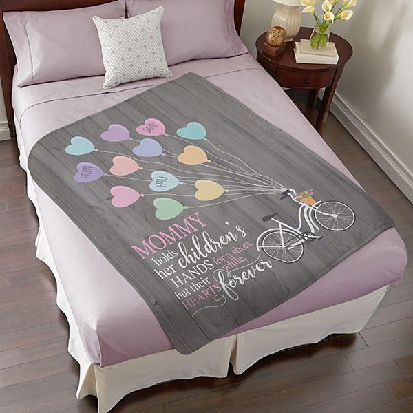 Heart Balloon Plush Blanket