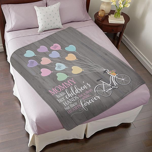 Heart Balloon Plush Blanket