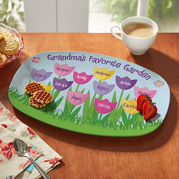 Tulip Garden Platter