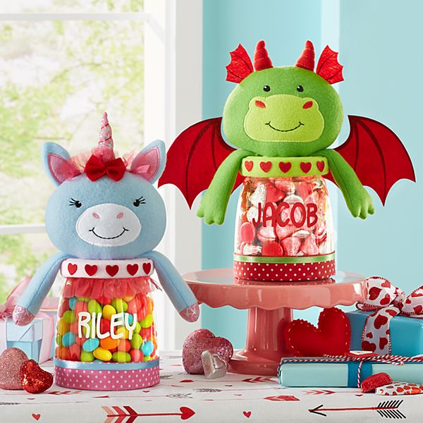 Hugs & Kisses Plush Treat Jars