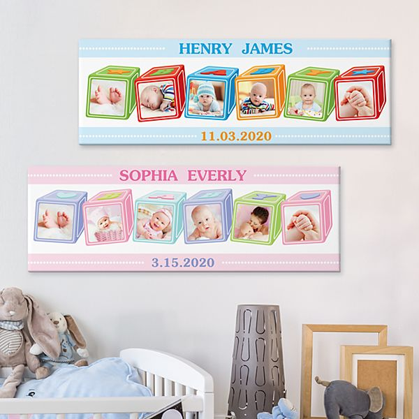 ABC Baby Blocks Photo Canvas