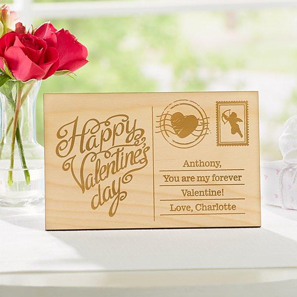Best Valentine Wooden Postcard