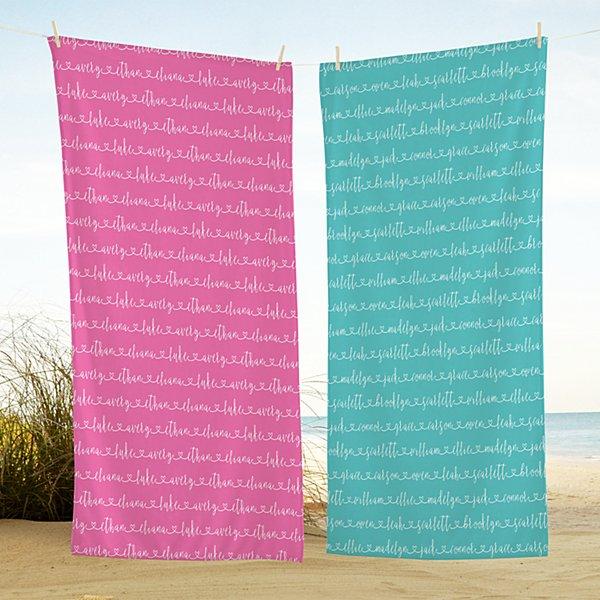 Allover Name Beach Towel