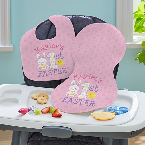 Baby's First Easter Bib & Burpcloth Set