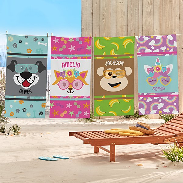 Big Face Beach Towel