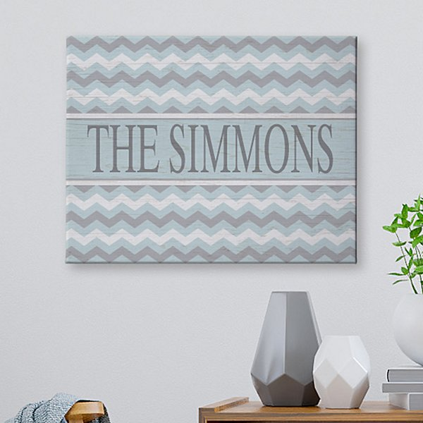 Chevron Name Canvas