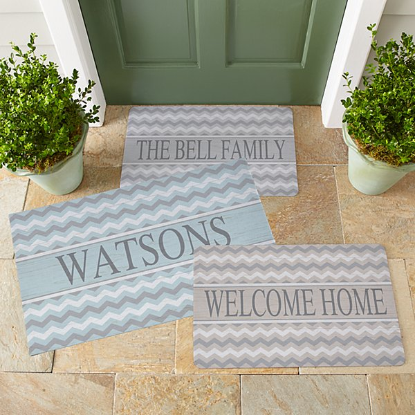 Chevron Name Doormat