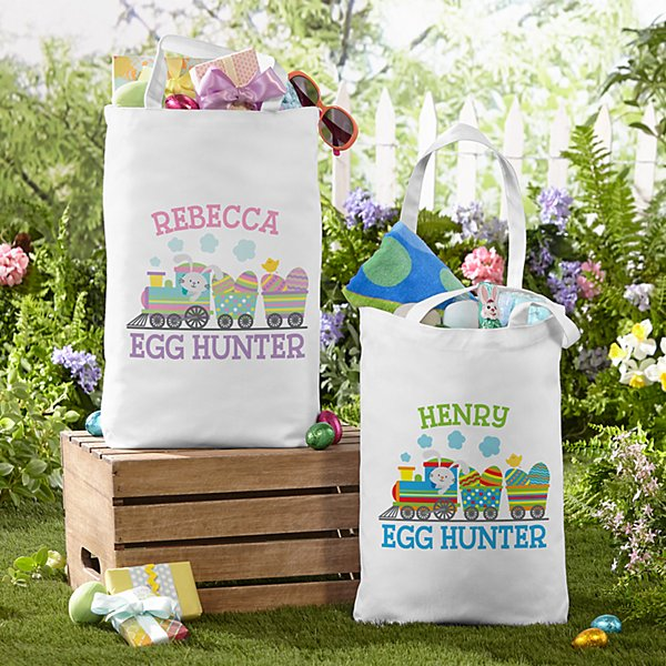 Easter Train Tote Bag