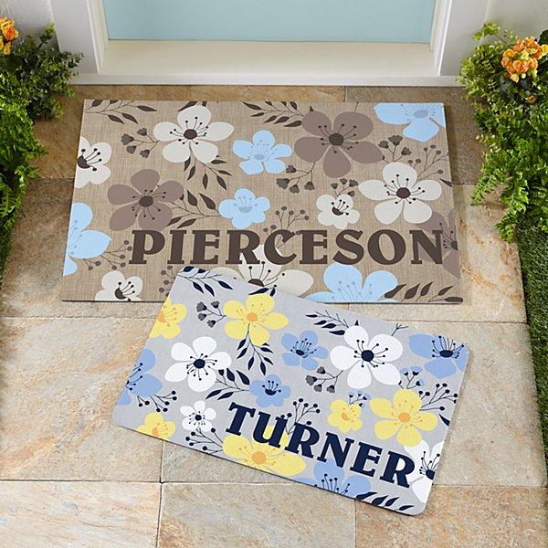 Floral Name Doormat