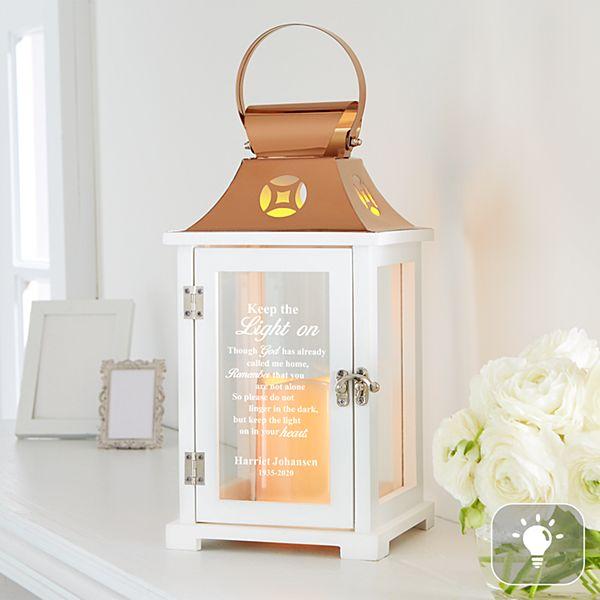 Keep The Light On Memorial Lantern