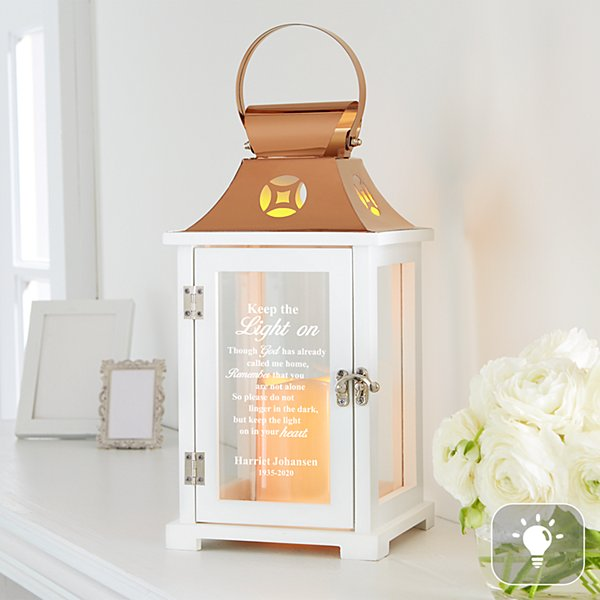 Keep The Light On Memorial Lantern