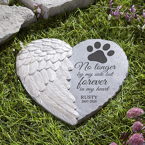 Paw Prints On My Heart Memorial Stone