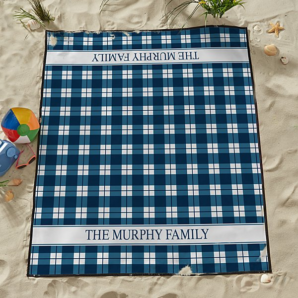 Perfect Plaid Beach Blanket