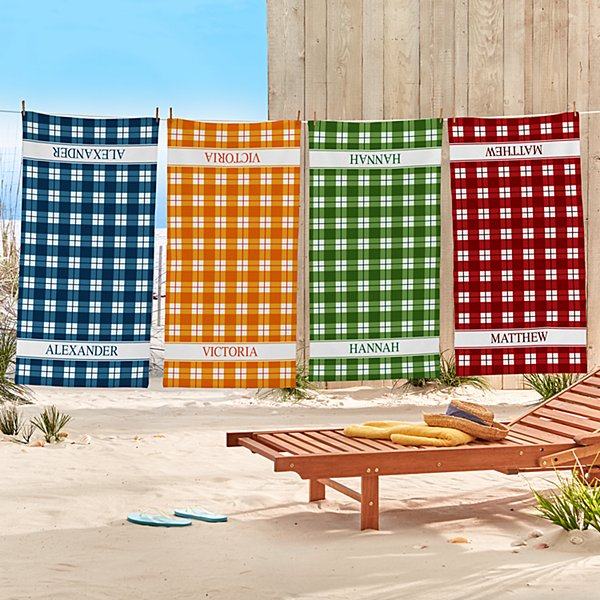 Perfect Plaid Beach Towel