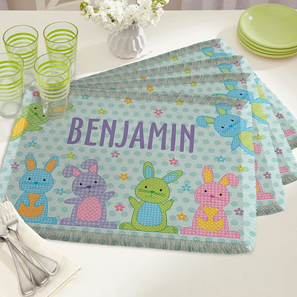 Polka Dot Bunnies Placemats