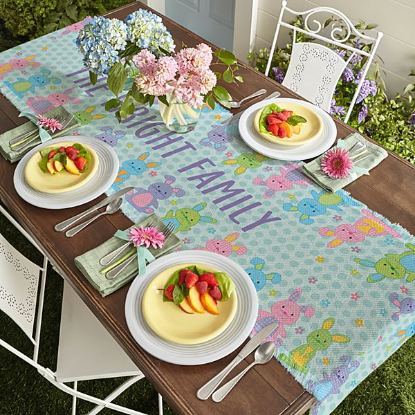 Polka Dot Bunnies Table Runner