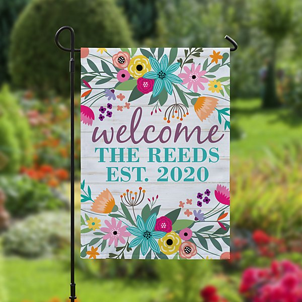 Rainbow Flowers Garden Flag