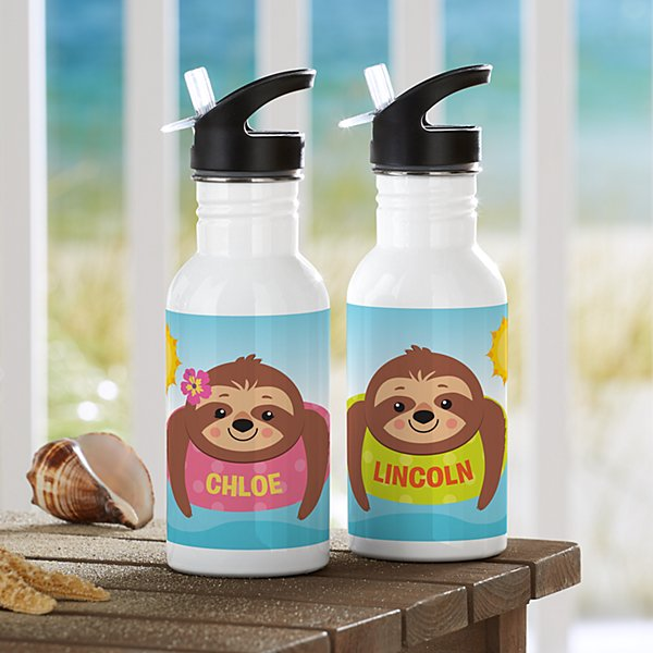 Sunning Sloths Water Bottle