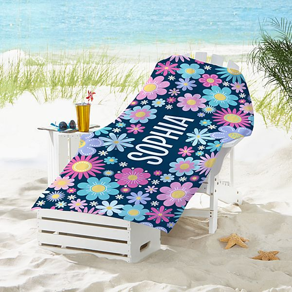 Sunny Flowers Beach Towel