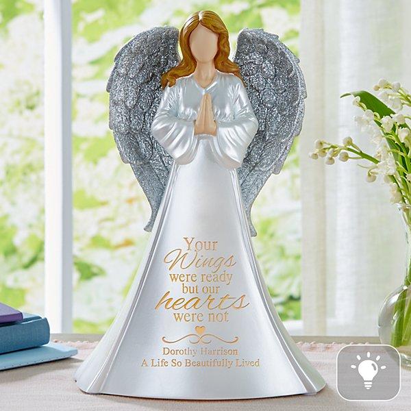 Wings Of Love Memorial Lighted Angel