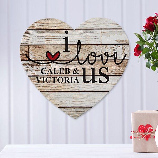 I Love Us Wooden Heart