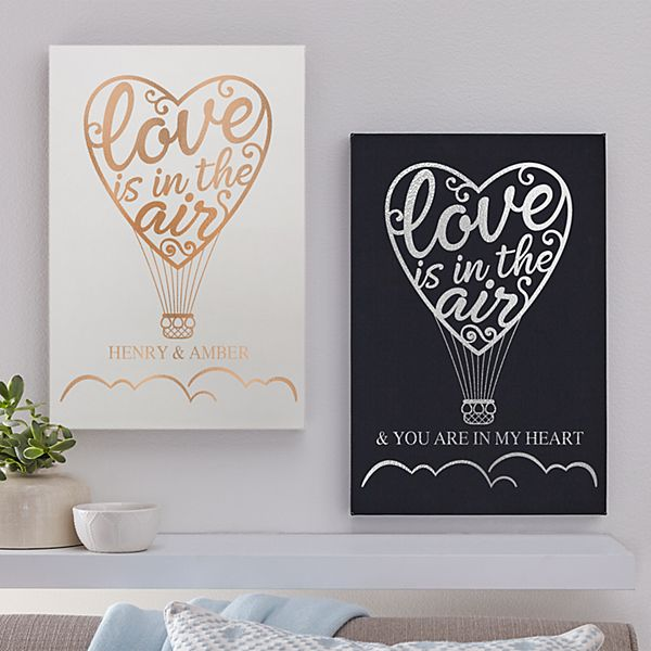 Love Is In The Air Leather Wall Art