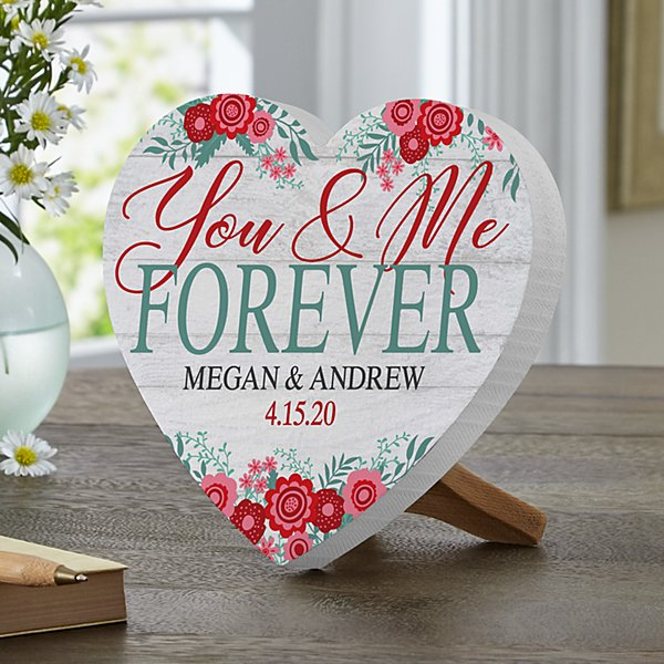 You & Me Forever Mini Wood Heart
