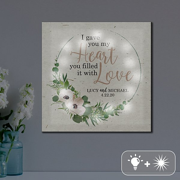 TwinkleBright® Heart is Filled with Love Canvas