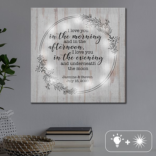TwinkleBright® LED I Love You Everyday Canvas